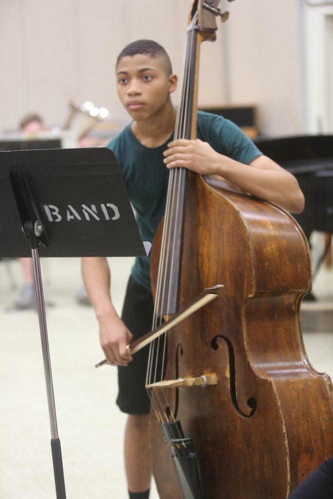Bassist at a Rehearsal