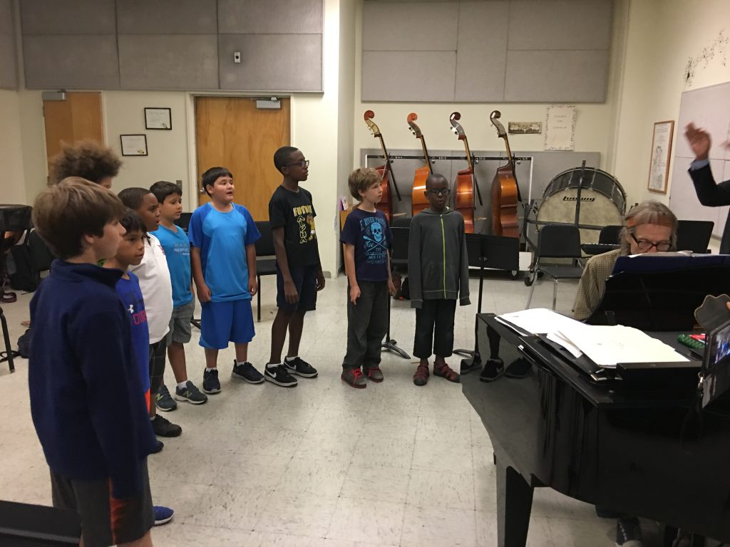 Boys Choir Rehearsal