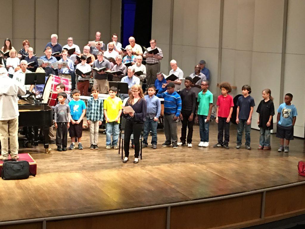 Boys Choir Symphony Chorus Rehearsal