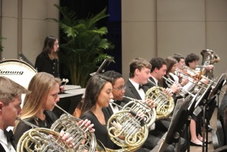 Brass Section at a Performance