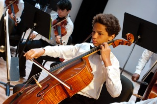 Cellist at a Performance