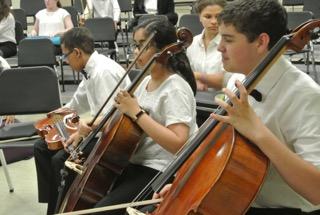 Cellist Pre Concert Warm Up