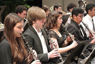 Clarinet Section at a Performance