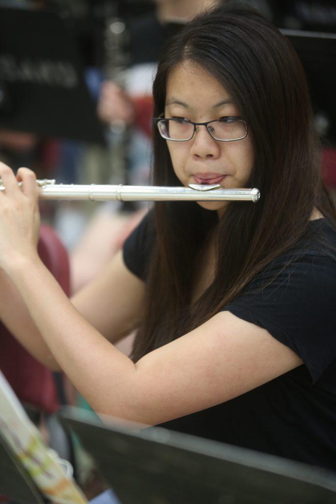 Flutist at Rehearsal