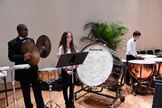 Percussion Section at a Performance