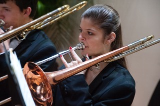Trombonist at a Performance