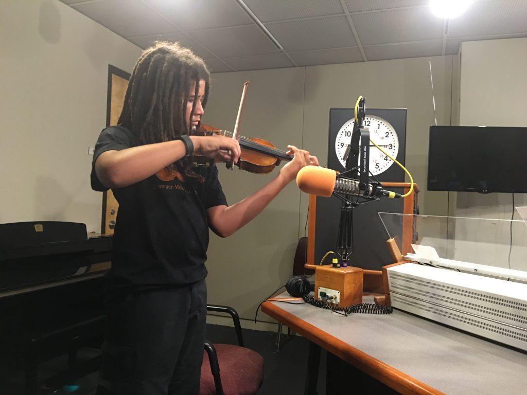 Violinist on a Radio Show