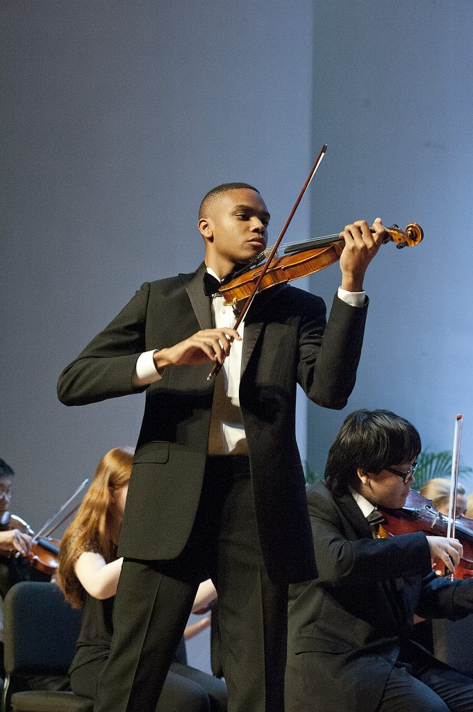 Violin Soloist at a Performance