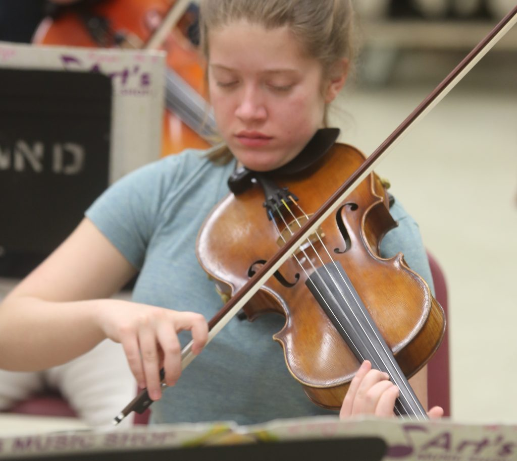 Violinist at Rehearsal